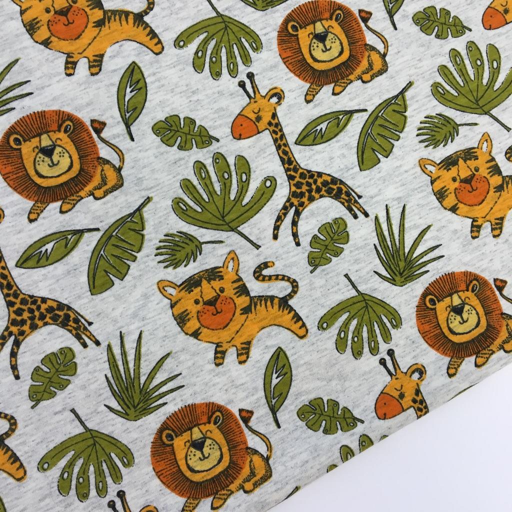 Tela de punto de camiseta disponible en tres colores, colección Safari